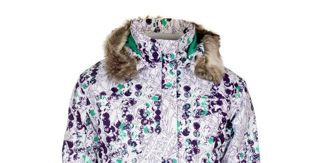 Dámská bílá zimní bunda s potiskem Loap