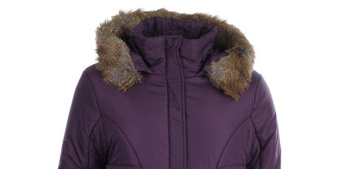 Dámská fialová bunda s kapucí Loap