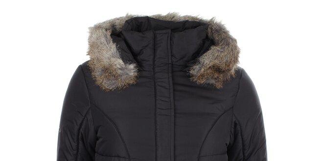 Dámská černá bunda s kapucí Loap