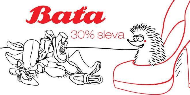 30% sleva do prodejny Baťa