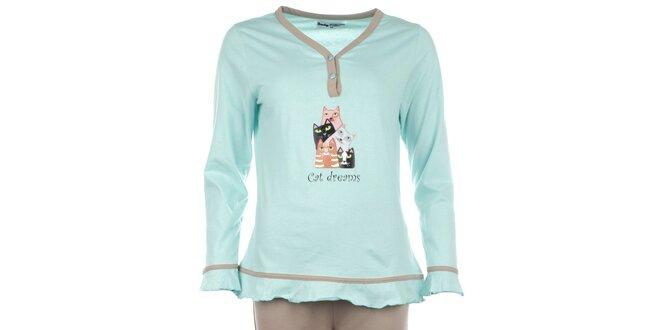 Dámské pyžamo s barevnými kočičkami Body International