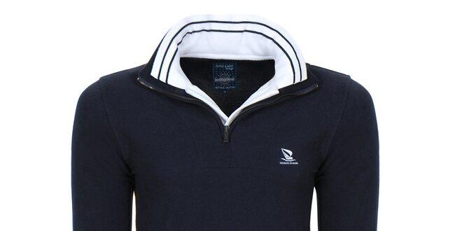Pánský svetr se stojáčkem v tmavě modré barvě Giorgio di Mare ... 1a42bb3657