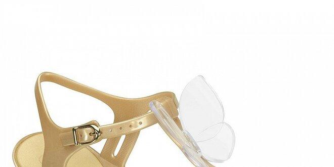 Zlaté sandály Mel
