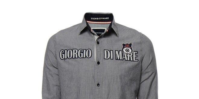 Pánská pruhované košile s výšivkami Giorgio di Mare  5629c2994a