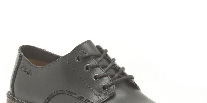 Pánské černé zavazovací boty Clarks