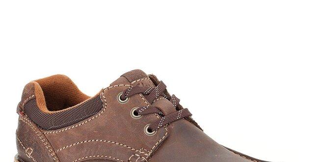 Pánské tmavě hnědé šněrovací boty Clarks