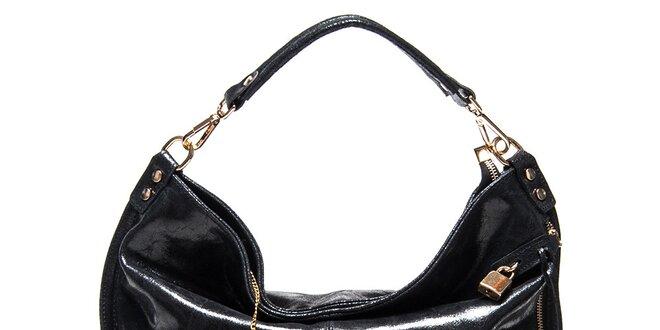 Dámská černá kabelka s jedním uchem Luisa Vannini