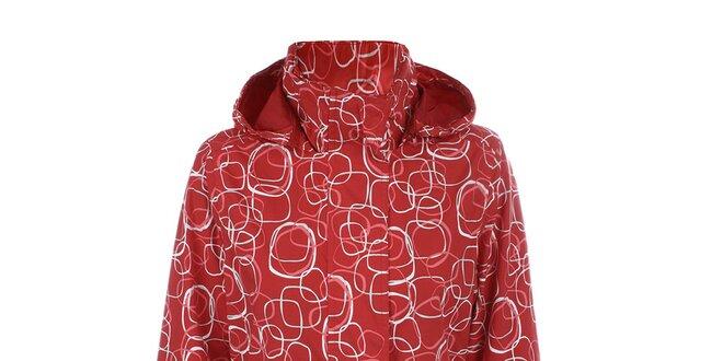 Dámská červená vzorovaná bunda do deště Happy Rainy Days