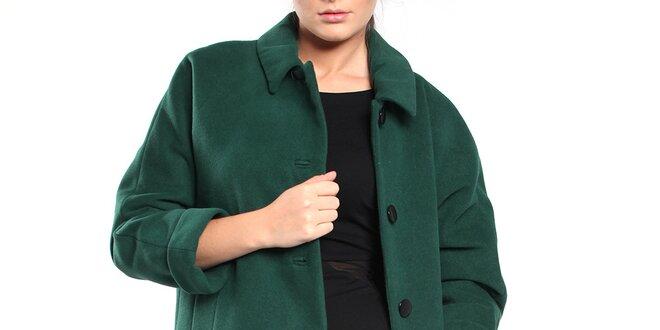 Dámský lahvově zelený retro kabát Vera Ravenna