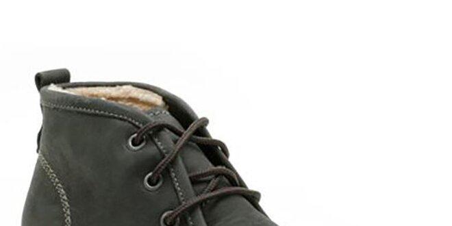 Pánské černé kotníkové boty se šněrováním Clarks