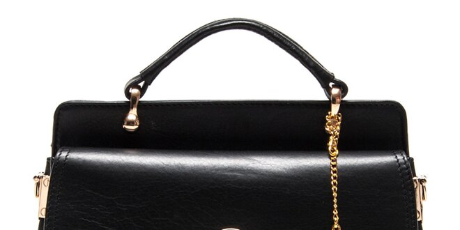Dámská černá kabelka s prošíváním Luisa Vannini