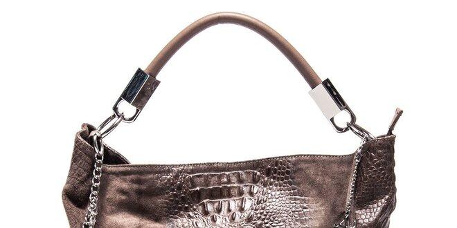 Dámská kožená kabelka s motivem krokodýlí kůže Luisa Vannini