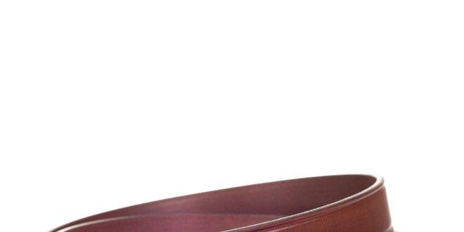 Pánský kožený pásek v hnědé barvě Solier