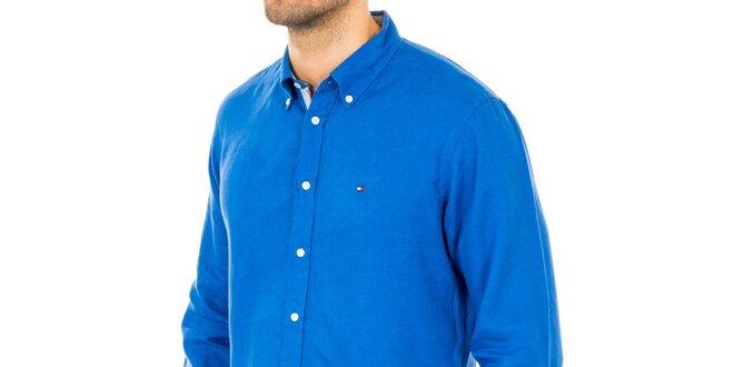 Pánská sytě modrá košile Tommy Hilfiger  4c8c0efc8a