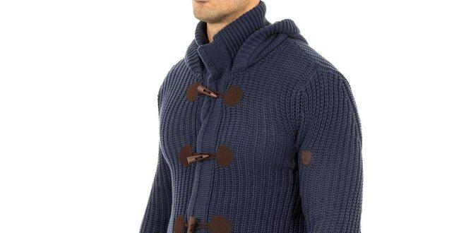 32c070a0534 Pánský modrý svetr s olivkovými knoflíky Tommy Hilfiger