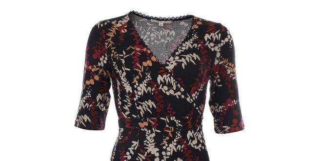 Dámské černé šaty s retro potiskem Uttam Boutique