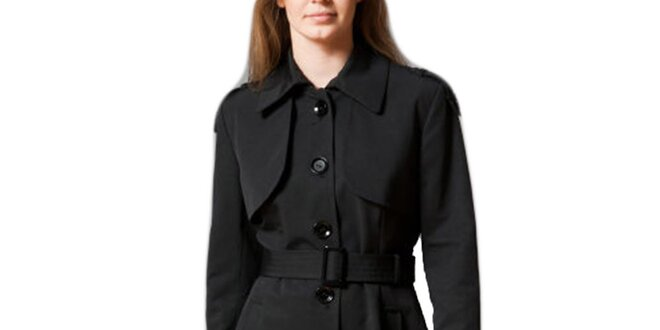 Dámský černý jednořadý kabát Pietro Filipi  3de6dc3ea7