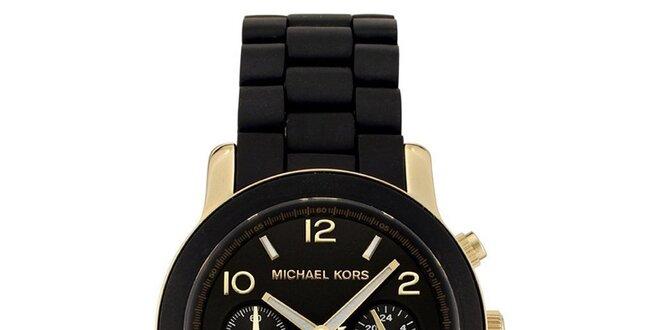 Dámské černé hodinky s pozlacenými prvky Michael Kors  7e7cdf0217