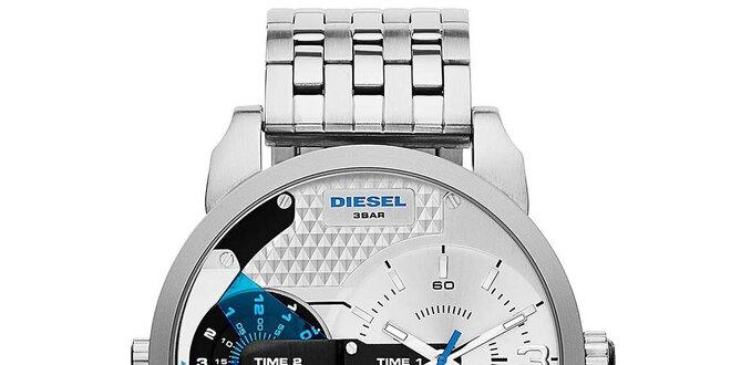 Pánské ocelové hodinky ve stříbrné barvě Diesel  501942c077