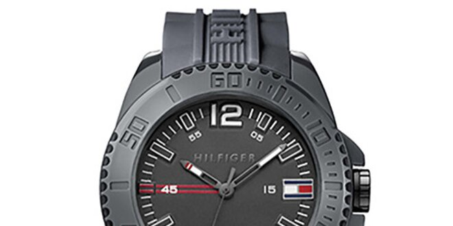 Pánské černé sportovní hodinky Tommy Hilfiger  dea45c02cc7
