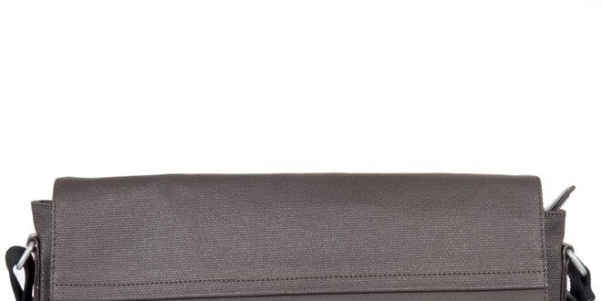 Pánská šedohnědá obdélníková taška přes rameno Calvin Klein Jeans