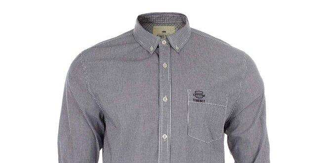 Pánská černo-bílá pruhovaná košile Timeout  67034d6500