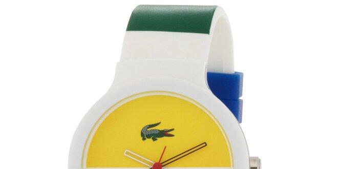 2c71574e5d5 Pánské hodinky Lacoste Goa bílo-žluté