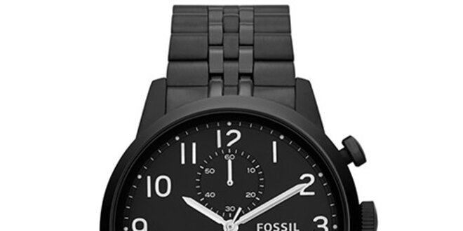 Pánské černé hodinky Fossil  2e677e45a3