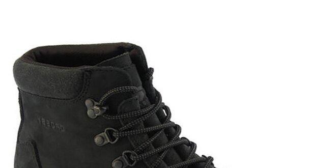 Pánské černé boty se šněrováním Crosby