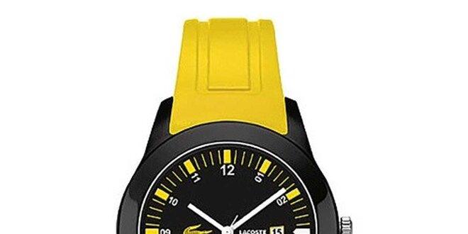 aad17a4918e Pánské hodinky se žlutým páskem Lacoste