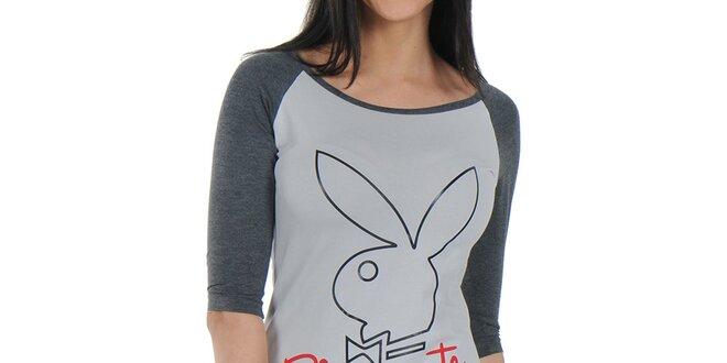Dámská šedá noční košile Playboy