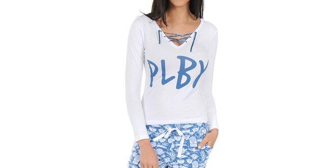 Dámské bílo-modré pyžamo Playboy