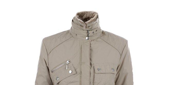 Dámská béžová bunda s kapsami Joluvi