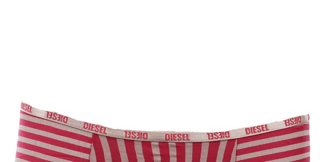 Dámské barevně pruhované kalhotky s potiskem mašle Diesel