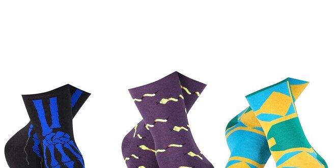 Set pánských ponožek s modrou kostrou, hady a geometrickým vzorem Happy Socks -…