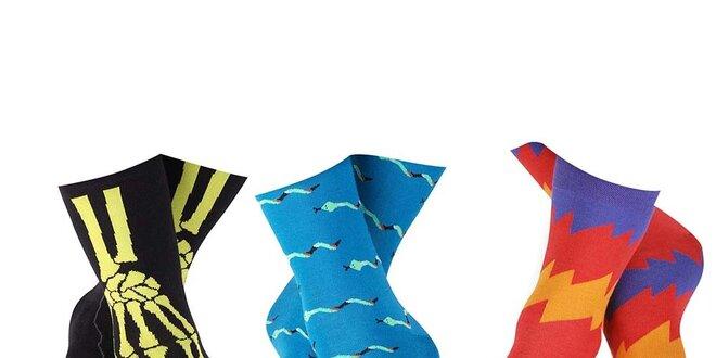 Set pánských ponožek s kostrou, hady a cikcak vzorem Happy Socks - 3 páry