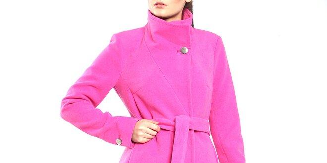 Dámský růžový kabát s páskem Vera Ravenna  e0d9469bbb3