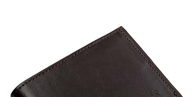 Pánská tmavě hnědá peněženka Solier