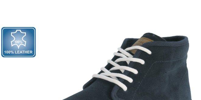 Pánské kožené modré tenisky Beppi
