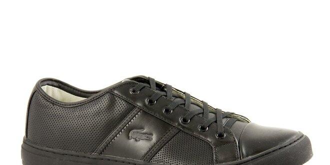 Pánské černé kožené tenisky Lacoste  e287931586