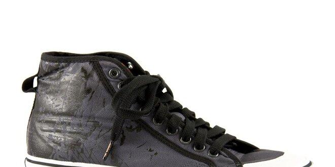 Pánské černé kotníkové tenisky Adidas s potiskem  26644591a6a