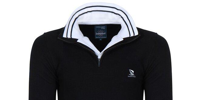 Pánský svetr se stojáčkem v černé barvě Giorgio di Mare