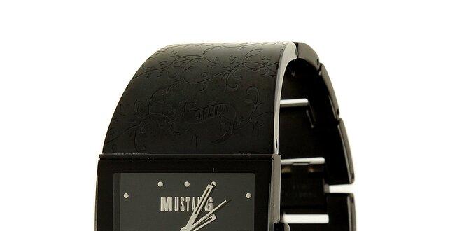 7a6be98d474 Dámské černé ocelové hodinky Mustang