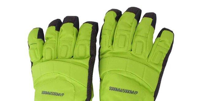 f8b3027d27b Neonové lyžařské rukavice s hvězdou Authority