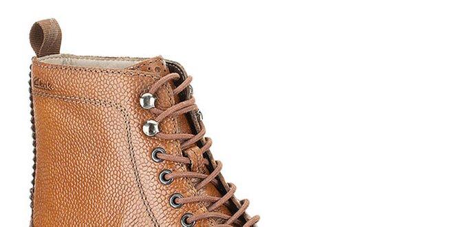 Pánské koňakově hnědé boty Clarks