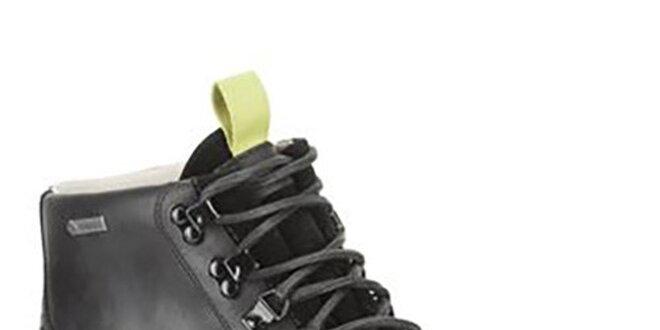 Pánské černé kožené boty Clarks s gore-texovou úpravou