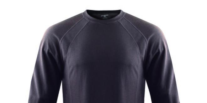 Pánské funkční antracitové triko s dlouhým rukávem Hannah