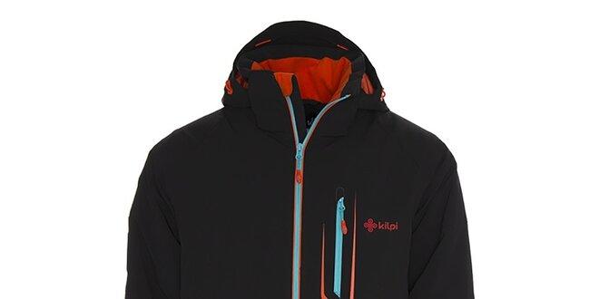 Pánská černá lyžarská bunda s kontrastními detaily Kilpi