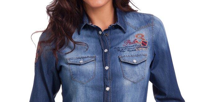 Dámská džínová košile se šisováním Galvanni  cfbbf2cbe4