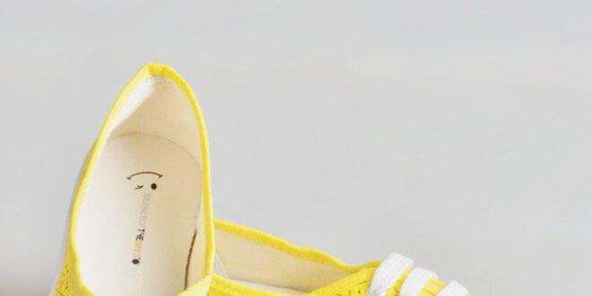Dámské žluté tenisky se smajlíky The Bees